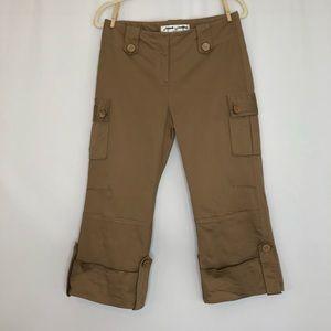 French Laundry tan Capri pants women's size 6